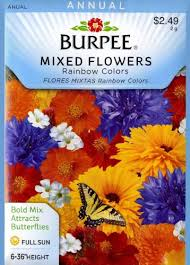 flower seed packets burpee 40965 mixed flowers rainbow colors seed packet astral