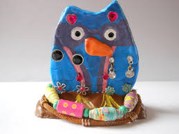 clay owl jewelry holder u2013 happily occupied homebodies