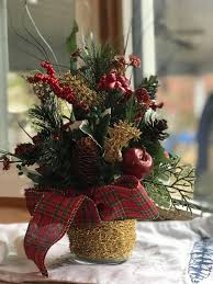 christmas flower arrangement home decoration