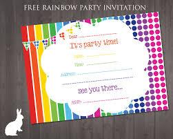Invatations Rainbow Party Invitations Plumegiant Com