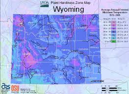Wyoming vegetaion images Map of usda plant growing zones in wyoming gif