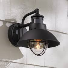 outdoor light fallbrook 9 h black dusk to motion sensor outdoor light