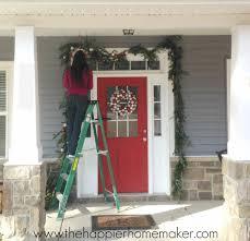how to hang garland around front door i37 in lovely home