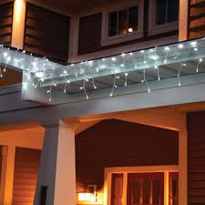 White Icicle Lights Outdoor Time Led Lite Lock Icicle Lights Cool White 225