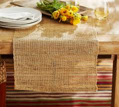 Pottery Barn Natural Fiber Rugs by Open Weave Natural Fiber Table Runner