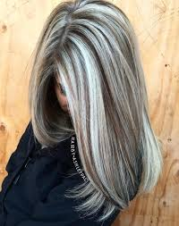 platinum blonde and dark brown highlights 40 ash blonde hair looks you ll swoon over brown highlights gray