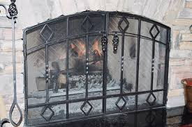 image of fireplace screen material