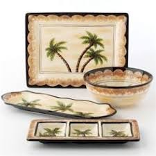 palm tree dishes palm court by gibson for the cabin by the