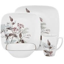 corelle square dinnerware sets clearance corelle twilight grove