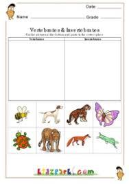 free printable worksheets vertebrates invertebrates vertebrates and invertebrates worksheet worksheets for all
