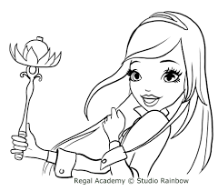 rose cinderella with the magic scepter coloring pages