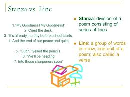 Rhyme Desk Poetic Terminology 7 Th Grade Ela Terms To Know Stanza Line