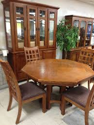 Octagon Dining Table Living Room With Planters Solid Color - Octagon kitchen table