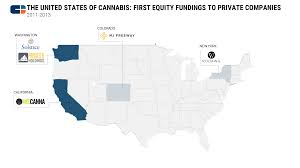 Colorado On The Us Map by The United States Of Cannabis Visualizing The Birth Of An Industry