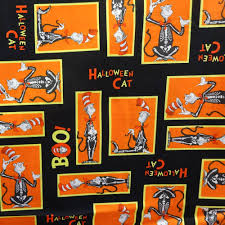 Fabric Halloween by The Cat In The Hat Dr Seuss Frames Black 100 Cotton Print Fabric