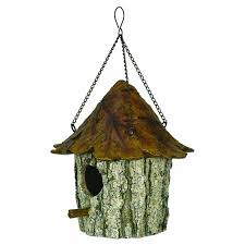 river s edge oak and tree leaf birdhouse brown