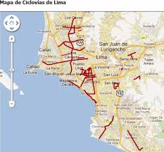 lima map this is a map of the bicycle roads in lima picture of bike tours
