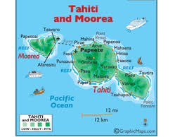 Map Of Bora Bora Tahiti Travel Brochure By Audrey Jo