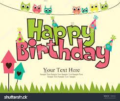 card invitation design ideas happy birthday card design vector