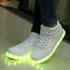 la light up shoes women s high cut white led light up shoes women s