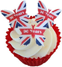 queen u0027s 90th birthday celebration 12 cup cake toppers edible