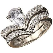 avon wedding rings platina4 pear shape engagement ring and band set avon polyvore