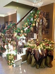 Christmas Banister Garland Christmas Garland Ideas Staircase 9145