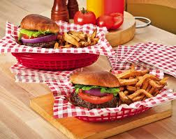 American Buffet Food by Diner Baskets And Liners For Serving Lunch At The Party Sports