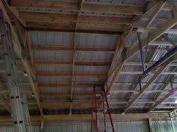 Truss Spacing Pole Barn Pole Barn Insulation And Inside Finishing The Garage Journal