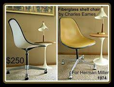 vintage herman miller eames loose cushion fiberglass swivel shell