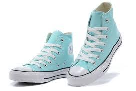 light aqua high top converse converse light chuck taylor fresh colors peppermint all star