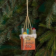 bloomingdale s brown bag nyc snow globe ornament 100