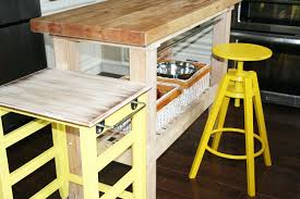 diy mini kitchen island yellow nowathomemom arafen