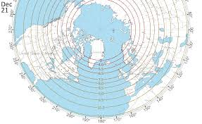 Northern Hemisphere Map Length Of Day On The Winter Solstice In The Northern Hemisphere