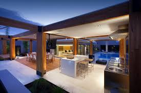modern timber kitchen stylish backyard with teak decking idesignarch interior design