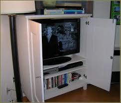 White Tv Cabinet With Doors Flat Screen Tvs With Doors Home Design Ideas 21 Admirable Tv