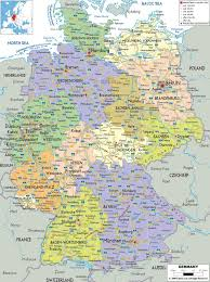 Map Of Illinois Towns by Download Printable Map Of Germany With Cities And Towns Major
