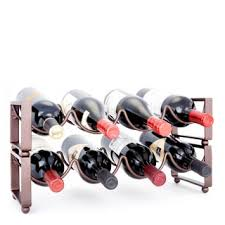 old dutch 4 bottle stackable wine rack set of 2 free shipping