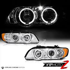 Bmw X5 98 - 1998 2003 bmw x5 e53 halo angel eyes chrome projector headlight