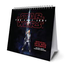 2018 easel desk calendar star wars episode 8 the last jedi official desk easel 2018 calendar