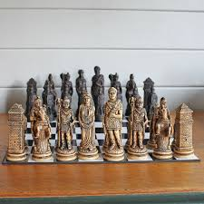 vintage ornamental chess set caesar s army pedlars