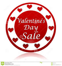 valentines sale valentines day sale circle banner with hearts symbols stock
