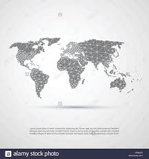 World Cloud Map by Cloud Computing And Networks Technology Concept With World Map