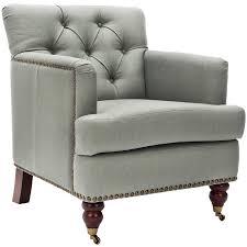 linen club chair shop safavieh colin casual sea mist linen club chair at lowes