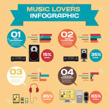 vector infographic set flat design speakers feature features