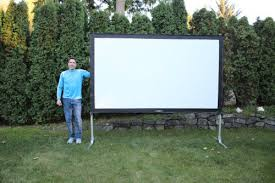 Backyard Outdoor Theater Portable Movie Projection Screen Theater Tv Folding Indoor Outdoor