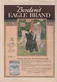 borden u0027s eagle brand condensed milk ad from july 1919 from the