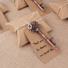 key bottle opener wedding favors 50 sets craft candy box with key bottle opener tag card paper box
