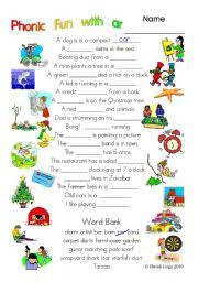 3 pages of phonic fun with ar worksheet story and key 1