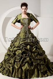 olive green puffy quinceanera dresses with jacket for winter 1st